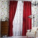 Samtvorhänge matt Samtvorhänge hotel, nicht die einfachen, farbigen Vorhängen, 1 PC (W 150 * L 250 CM), rot