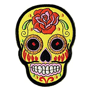 Mexican Sugar Skull Patch thermocollant Motif crâne mexicain