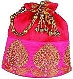 Bombay Haat Women's Potli (Magenta, Bp0002)
