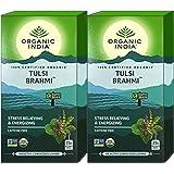 Organic India Tulsi Brahmi Tea 25 Tea Bag- (Pack of 2)