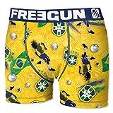 Freegun. Boxer World cup - Coupe du monde 2018 -en microfibre fantaisie (XXL, Brésil adulte)