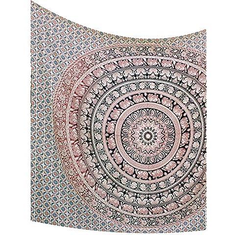 Kesrie Healing mandala parete arredamento Hippie Arazzi di cotone indiano stampato tiro Colourful per portare energia positiva