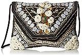 Antik Batik Damen Cuzco Clutch, Schwarz (Black White), 3x23x29 cm