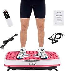 Wefun Fitnessplatte Vibrationstrainer, für Den Büro-Wohnzimmer, mit USB-Musik-Wiedergabe,Vibrationsplatte Body-Shaper der Eignungs-Ausrüstung Abnimmt,mit Fernbedienung und Zugschnur