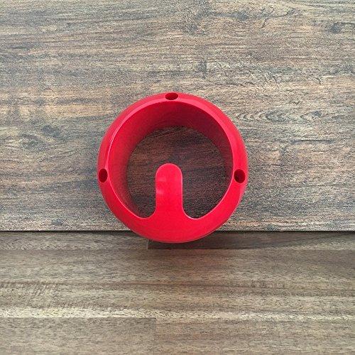 GEWA sehr stabiler Trensenhalter, Halter für Trensen und Halfter versch. Farben, Farbe:rot (Halter Versenkt)