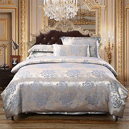 KANGJIABAOBAO Bettwäsche Vier Sätze von Bett Bettwäsche Set von Vier Baumwolle Hochwertige, gebürstete Bettwäsche mit hoher Dichte Kissenbezug Geeignet (Größe : 2m)
