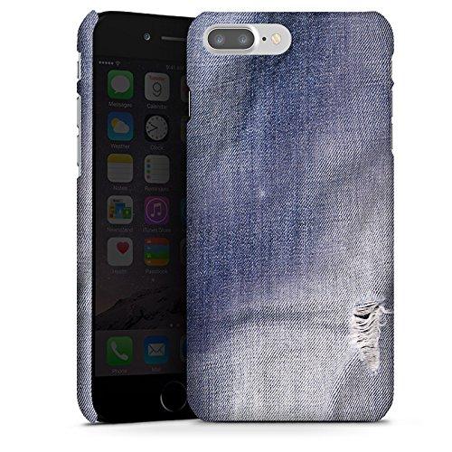 Apple iPhone SE Tasche Hülle Flip Case Grau Jeans Farben Look Muster Premium Case glänzend