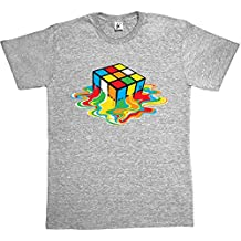 Melting Rubik's Cube T-shirt for Men in 7 colours