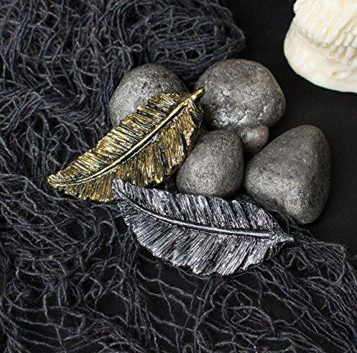 Wonder Heaven Pin, Silber oder Gold Harz Feder Pin, Fantasy Cap Verschluss, Brosche Taschen und Rucksäcke, Gothic Fantasy Jacke Brosche