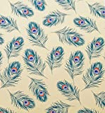 Peacock feathers suttons Printed Patterned Tissue Wrapping Paper luxury 5 sheets