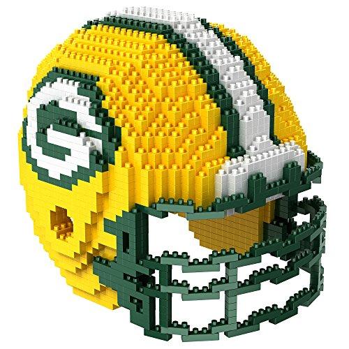 Green Bay Packers NFL Football Team 3D BRXLZ Helm Helmet Puzzle