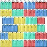 Juego de 70 etiquetas identificativas de plástico con llavero para maletas de la marca Lictin