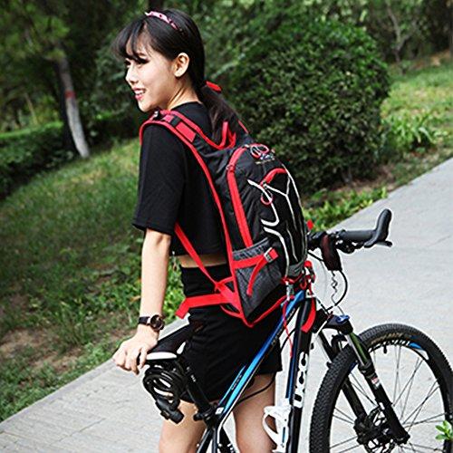 18L Imprägniern einen.Kreislauf.durchmachenrucksack Atmungsaktiver Wanderrucksack Leichter Rucksack für Reise Klettern Radfahren Laufen Camping Im Freiensport-Schulter-Rucksack Hydratation Wasser Tasc Rot