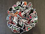 lot of stickers sport shoes, sneakers, basket, basketball, nike, air jordan, fashion, style, urban, street art, adida, collection, extreme sport, brand, sport shoes brand