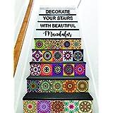 Paper Plane Design Tile Sticker Size 6 inch x 6 inch x 36 pcs - Multi Colour Design 24 (B)