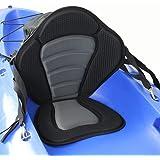 Lixada ® Deluxe Padded Kayak/Boat Seat Soft and Antiskid Padded Base High Backrest Adjustable Kayak Cushion with Backrest