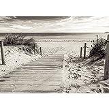 Vlies Fototapete PREMIUM PLUS Wand Foto Tapete Wand Bild Vliestapete - Strand Meer Steg Wasser - no. 3085, Größe:416x254cm Vlies