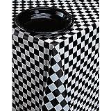 Nappe en plastique Creative Converting pour table de banquet - Carreaux noirs