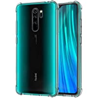Tarkan Shock Proof Protective Soft Back Case Cover for Redmi Note 8 Pro (Transparent) [Bumper Corners with Air Cushion Technology]