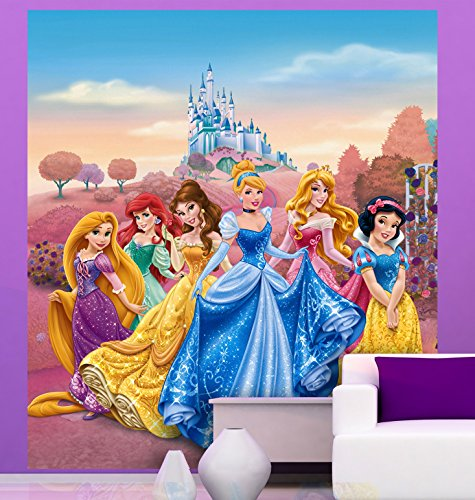 AG-Design-Disney-Princess-Castle-2-Part-Photo-Mural-Wallpaper-for-Childrens-Room-Multi-Colour-180-x-202-cm