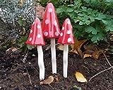 Keramik Fairy Fliegenpilze Garten klingenden Pilzen Garden Ornaments ps5081