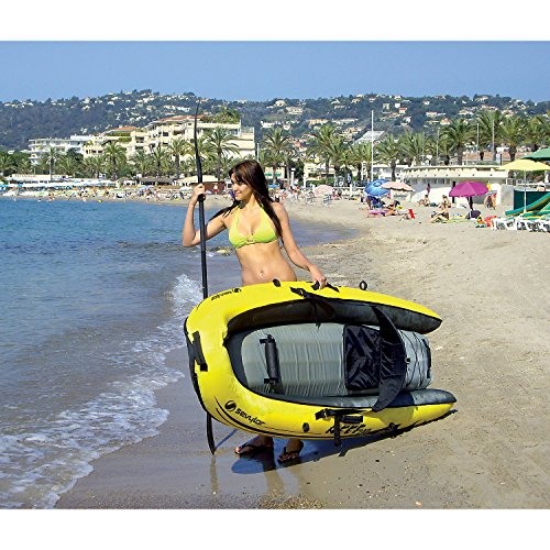 Sevylor Inflatable Kayak Reef 240 - Sit on Top Kayak, 1 Man Canoe, 236 x 86  cm