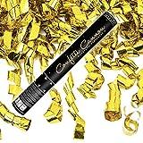 10x Konfetti-Shooter Luftschlangen Shooter Party Popper Goldfarbene Folienstreifen Konfetti Kanone Länge 40 cm ! Hochzeit. Von Haus der Herzen.