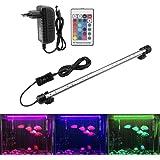 Illuminazione per Acquario LED Aquarium Light Colorato Sommergibile Luci Resistente Calore Telecomando Impermeabile…