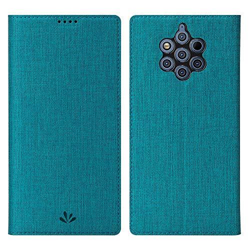 Eactcoo Ersatz für Nokia 9 Pureview Hülle,Premium PU Leder klappbares Folio Flip Case TPU Cover Bumper Tasche Mit Standfunktion Magnetverschluss Kartenfach Wallet Handyhülle (Nokia 9 Pureview, Blue)