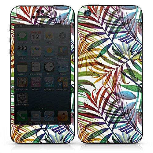 Apple iPhone SE Case Skin Sticker aus Vinyl-Folie Aufkleber Palme Blätter Dschungel DesignSkins® glänzend
