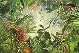 Komar XXL4-031 Vlies Fototapete INTO The WILD, grün/bunt, 368 x 248 cm (Breite x Höhe), 4 Teile, 4 Stück für Komar XXL4-031 Vlies Fototapete INTO The WILD, grün/bunt, 368 x 248 cm (Breite x Höhe), 4 Teile, 4 Stück