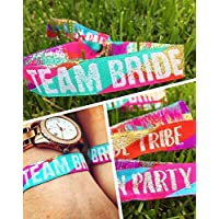 Team Bride (Multicoloured) Hen Party Wristbands/Bracelets