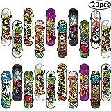 Skateboard Finger, BETOY 20pcs Mini Skate Board Professionale Mini Dito da Skateboard per Bambini Compleanno, Regali di Natale, Regali, Premi per Lezioni Scolastiche(Colore Casuale)