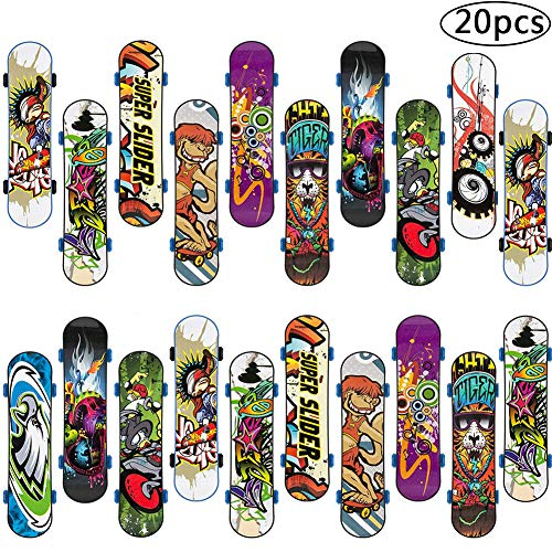 Fingerskateboard Set, BETOY 20Pcs Finger Skateboard Professionelle Mini Fingerboards Skatepark Spiel Schlüsselbund Dekoration Geburtstagsgeschenk Geschenk für Kinder