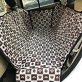 WYF Hund Sitzbezug, Wasserdicht Haustier Sitzkissen Sitz Auto Boot Protector, Haustier Hängematte Rücksitzabdeckung,White