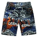 Niseng Uomo Leisure Costumi Da Bagno Traspirante Surfe Spiaggia Pantaloncini Shorts Da Mare Blu M