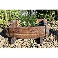 Half-Vaso in legno per giardino, Patio, Design-Decorazione da giardino, stile rustico