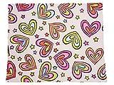Rainbow Hearts Cloth Microfibre Cleaning Cloth - Go Opticians - amazon.co.uk