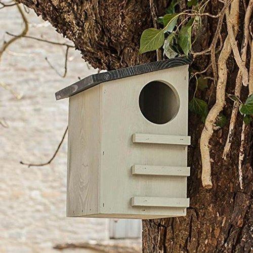 CKB Ltd® Squirrel House Eichhörnchen Eichhörnchenhaus Futterautomat Futterhaus Nistkasten Kobel Holzschindeldach Vogelhaus Eichhörnchen-Haus