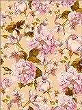 Posterlounge Holzbild 100 x 130 cm: Rosa Vintage-Blumen von Editors Choice