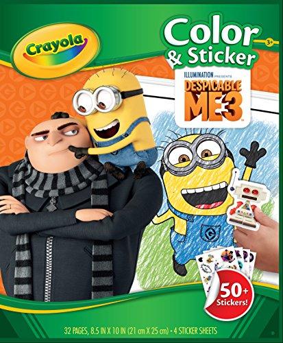 Crayola 04-0056 album da colorare con adesivi cattivissimo me 3
