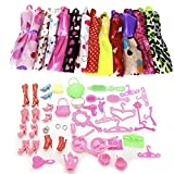 #1: iDream 10pcs Doll Dress & 50pcs Doll Accessories (Combo Pack) Compatible With Barbie Doll