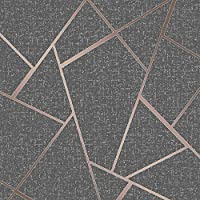 Fine Décor FD42283 Quartz Fractal Wallpaper, Copper