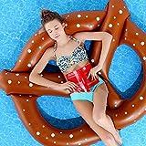 Gonfiabili galleggianti Pretzel piscina galleggiante 45 '' giganti Beach Lounge Lilos da Wishtime