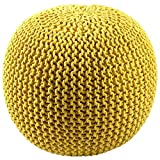#3: The Intellect Bazaar Premium Knitted Pouf (15*15*14 inches), Golden