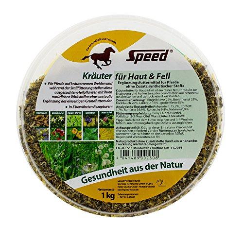 Speed Kräuter für Haut und Fell (1 kg) - Pferdekräuter zur Unterstützung des Fellwechsels und des Stoffwechsels