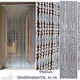 PVC-Türvorhänge Modell Perla - Eichmaß 100X220 / 120X230 / 130X240 / 150X250 - Fliegenvorhang - Kunststoff-Vorhänge (120X230, Transparent weiß)