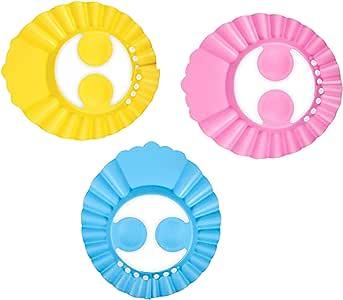 2PCS chapeau douche b/éb/é visi/ère de douche casquette de bain de b/éb/é bonnets de bain pour enfants protection des yeux et visage de shampooing