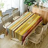 GuDoQi amarillo mantel cubierta de tabla rectángulo tela de poliéster...