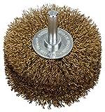 Bosch Professional Scheibenbürste, Messing, gewellter Draht, 0,2 mm, 80 mm, 35 mm, 4500 U/ min, 2608622130